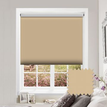 PVC Blackout Plain Beige Roller Blind